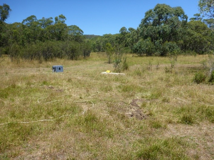 Magnetotelluric survey equipment being used in the field (image courtesy of Geoscience Australia).