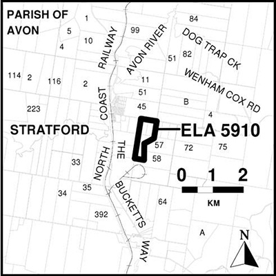 Map showing location of Market Interest Test for Coal Operational Allocation for CIM Stratford Pty Ltd