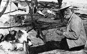 Old-time prospector