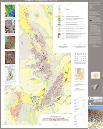 Mt Brown, Mt Poole and The Gorge Inliers 1:25 000 Geological Sheet