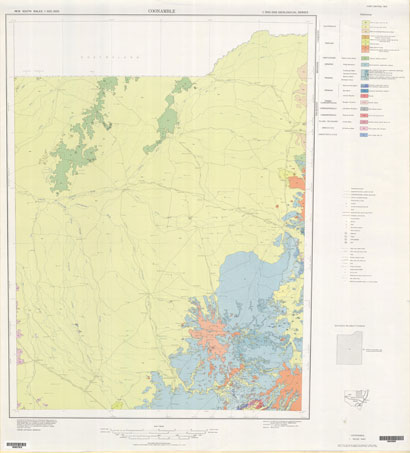 Coonamble 1:500 000 Geological Map (1st Edition)