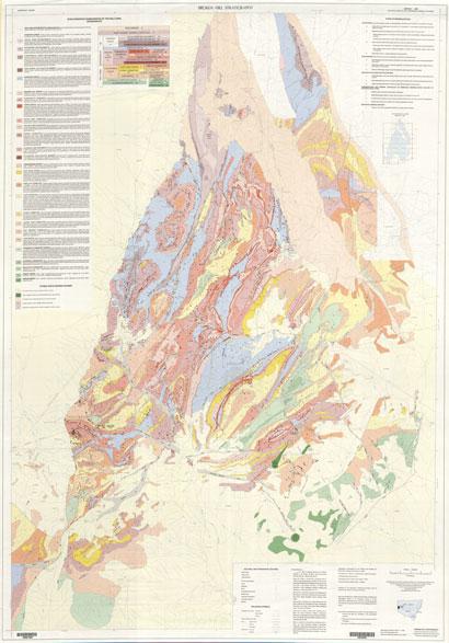 Broken Hill Block Stratigraphic 1:100 000 Geological Sheet