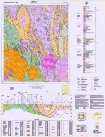 Orange 1:100 000 Geological Sheet