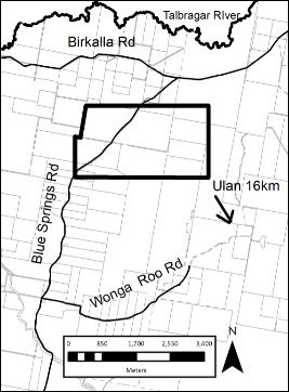 Ulan Coal Mines exploration licence application location map