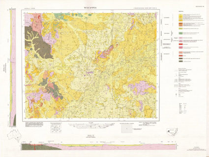 Wilcannia 1:250 000 Geological Map Sheet (1st Edition)
